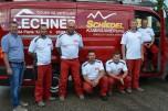 Unser engagiertes Team in der Kaminsanierung mit Rauchfankehrermeister Johann Waschl, Arnold Hauer, Franz Hager, Mario Niedzballa, Martin Schüller, Andreas Jamy und Stanislaw Leszko