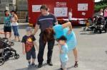 Familie Dantinger auf der Kinderbaustelle