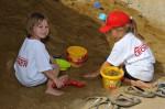 auf der Kinderbaustelle in der Sandbox