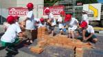 Viele Kinder hatten Spaß auf der Kinderbaustelle der Baufirma Lechner