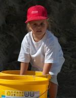 So ein süßes Mädchen auf unserer Kinderbaustelle