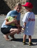 Frau Ensbacher und ihre Kinder sind überglücklich, dass wir Sie zur Kinderbaustelle 2015 eingeladen haben.
