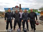 Unsere 4 Teilnehmer beim Kartrennen Martin Schüller, Arnold Hauer, Mario Niedzballa und Franz Hager mit unserem Bereichsleiter in der Kaminsanierung Rauchfangkehrer Johann Waschl