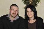 Vorarbeiter in der Kaminsanierung Mario Niedzballa mit seiner Frau bei der Weihnachtsfeier 2013
