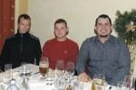 Vorarbeiter Roman Schuster, Facharbeiter Dierter Edelbauer und Christoph Walzer bei der Weihnachtsfeier 2013