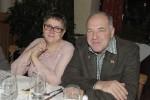 Baggerfahrer Herbert Breit mit seiner Frau bei der Weihnachtsfeier 2013