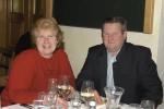 Polier Franz Harold mit seiner Frau bei der Weihnachtsfeier 2013