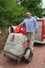 Pensions-Abschiedsfeier Franz Hager am Kompressor