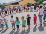 Der gesamte Kindergarten unserer Großgemeinde Schönberg veranstaltete ein Sommerfest verbunden mit einer Kinderbaustelle in unserer Firma