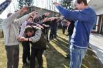 Outdoorübung beim Team-Seminar