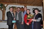 die Firmenleitung bei der Gratulation zum 50. Geburtstag des Mitarbeiters Herbert Göttinger