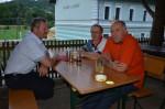 Walter Prösser Leopold Amon und Herbert Breit bei der Geburtstagsfeier unseres Vorarbeiters in der Kaminsanierung Stanislaw Leszko