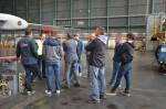 Interessant war die Führung am Flughafen in Wien für die Mitarbeiter der Baufirma Lechner