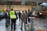 Alle Mitarbeiter waren fasziniert in der AUA-Werft