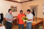 Franz Harold und Johann Waschl beim Gratulieren