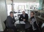 Marc Weingartner Hermann und Christine Lechner beim Feeback-Gespräch