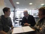 Philipp Aschauer beim Feedback-Gespräch