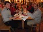 beim gemütlichen Essen anlässlich 50.Geburtstag von Leopold Eigner