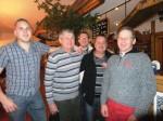 Ewald Aron, Alois Vlach,Rudi Leopold,Hemann Zollner und Leopold Amon in gemütlicher Runde