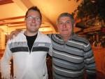 Rudi Leopold und Alois Vlach beim Geburtstagsfest von Leopold Eigner