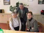 Chefin mit Alois und seiner Mutter