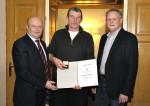 Danke an Facharbeiter Herbert Frauberger für 10 Jahre Firmentreue.