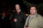 Unsere Vorarbeiter Anton Gutmeier und Herbert Göttinger beim Sektempfang unserer Weihnachtsfeier