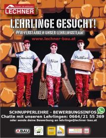 Unsere engagierten Lehrlinge Dominik Wegenberger, Nico Hinterleitner und Matthias Binderauf Lehrlingssuche.