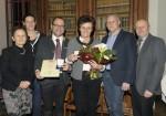 Ludmilla Friedrich, Reinigungsfachkraft bei Baufirma Lechner seitens der Geschäftsleitung für 20 Jahre Betriebstreue geehrt.