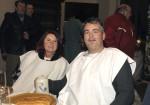 Das Ehepaar Helmut Zollner bei der Weihnachtsfeier 2016 der Baufirma Lechner aus Plank am Kamp Niederösterreich