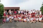 An die 80 Kinder bei der Kinderbaustelle 2019 der Baufirma Lechner
