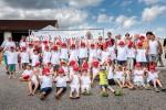 So viele fröhliche Kindergesichter bei der Kinderbaustelle der Baufirma Lechner aus Plank am Kamp