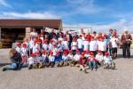 Ein Teil der fröhlichen Kinderschar bei der Kinderbaustelle 2021 der Baufirma Lechner