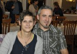 Stefan Haberl mit seiner Frau bei der Weihnachtsfeier 2014 der Baufirma Lechner