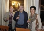 Herbert Breit, unser ehemaliger Mitarbeiter Josef Friedrich und Ludmilla Friedrich bei der Weihnachtsfeier 2014 von Baufirma Lechner