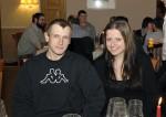 Spass hatte auch Simon Korb mit seiner Freundin bei der Weihnachtsfeier 2014 der Baufirma Lechner
