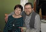 Roswitha Sam und Herbert Göttinger bei der Weihnachtsfeier 2014 der Baufirma Lechner