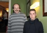 Anton Gutmeier und Nico Hirt bei der Weihnachtsfeier 2014 der Baufirma Lechner