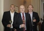 die Herren von der Krankenkasse mit Hermann bei unserer Weihnachtsfeier 2014 im Landgasthaus Winkelhofer