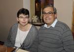 Leopold Eigner mit seiner Frau bei der Weihnachtsfeier 2014 der Baufirma Lechner