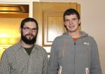 David Niederle mit Markus Riel bei der Weihnachtsfeier 2014 der Baufirma Lechner