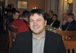 Bautechniker Ing. Michael Widhalm bei der Weihnachtsfeier 2014 der Baufirma Lechner