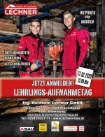 Einladung zum Lehrlings-Aufnahmetag am 17.2.2020 bei Baufirma Lechner in Plank am Kamp